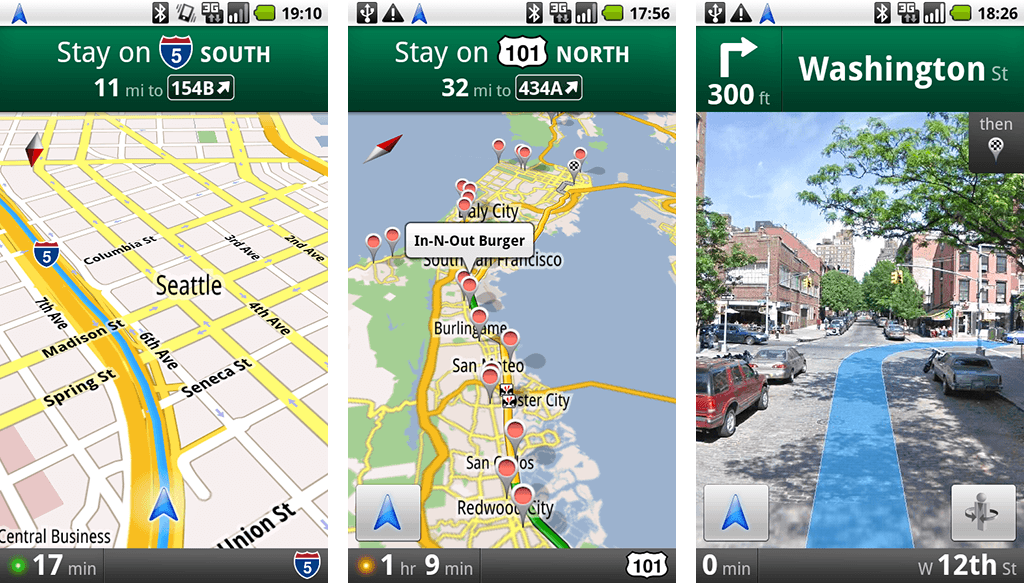 Google Maps Navigation Example
