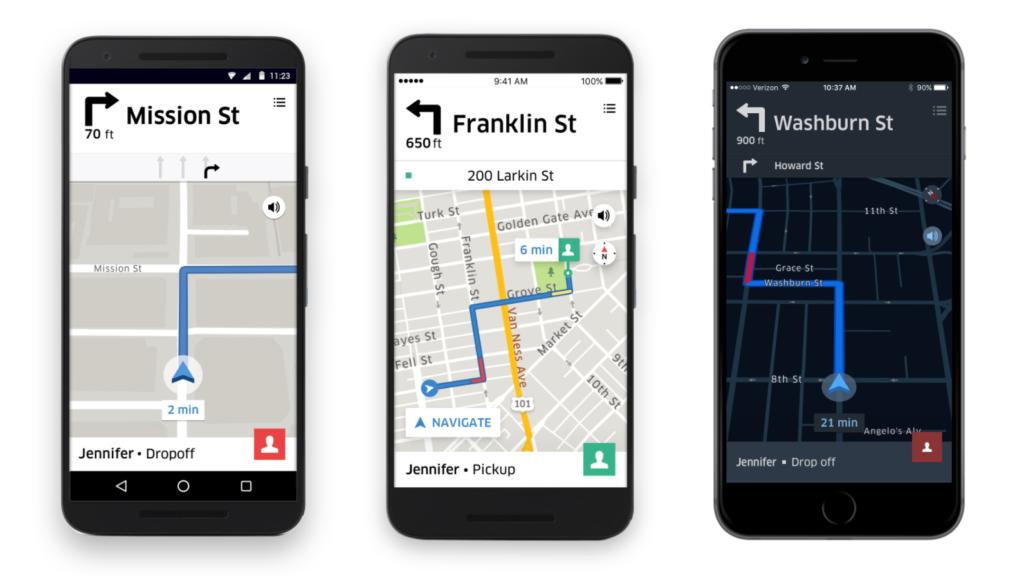 Uber Navigation In App
