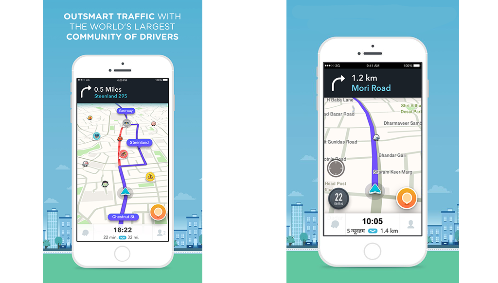 best nav system for Uber - Waze App Navigation Screens