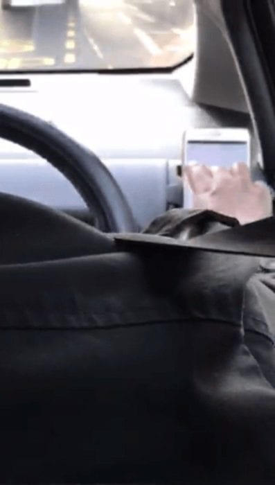 Uber driver texting