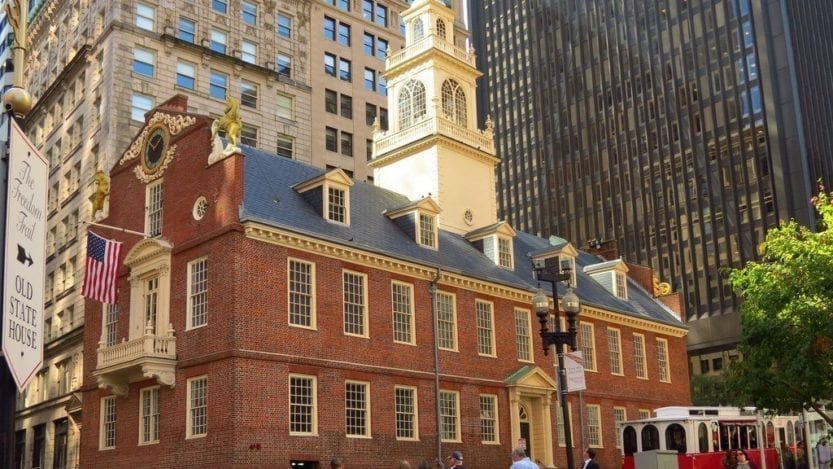 driver for lyft by the boston old state house