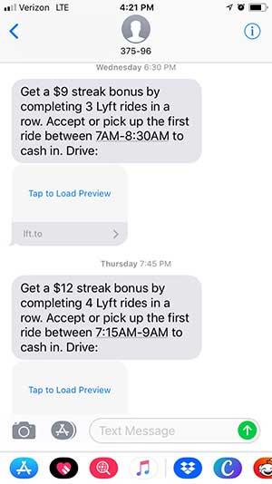 lyft streak bonus