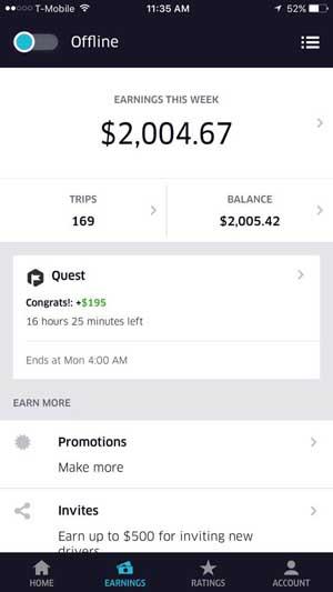 uber san francisco weekly earnings