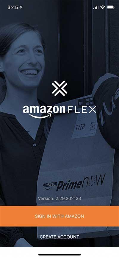 Amazon Flex Driver Sign Up Start