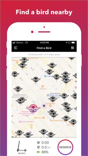 Bird Scooters - Find a Bird Nearby