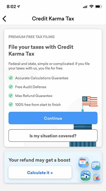 Credit Karma Tax - Home