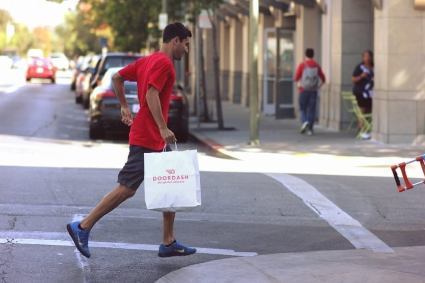Doordash dasher on foot