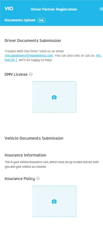 Drive With Via Application - Document Upload