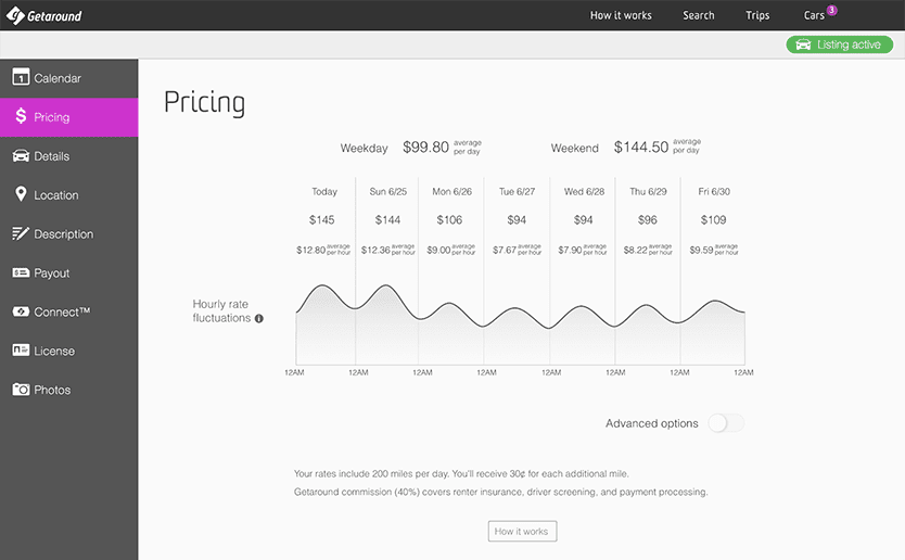 Getaround predictive pricing