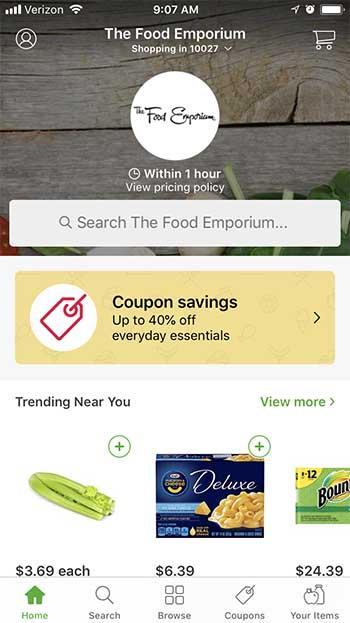Instacart App - Food Emporium