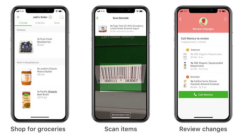 instacart shopper app - shop scan review