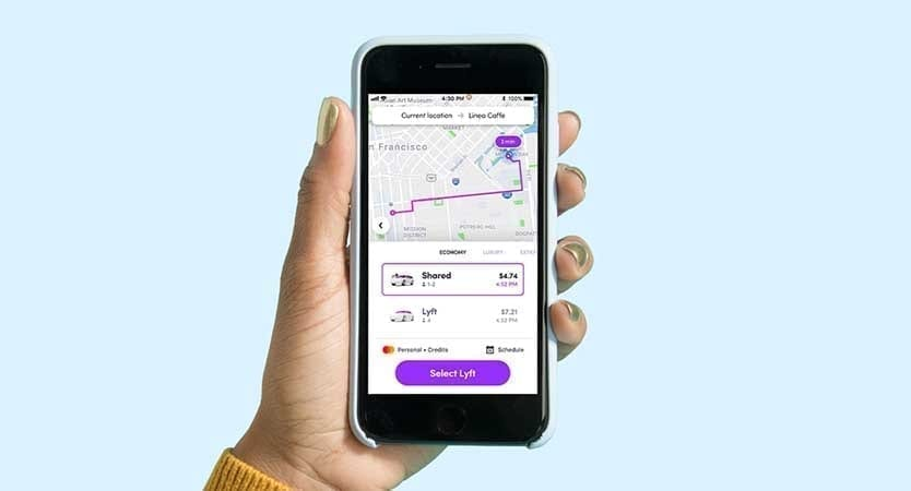 Lyft App - Lyft Shared