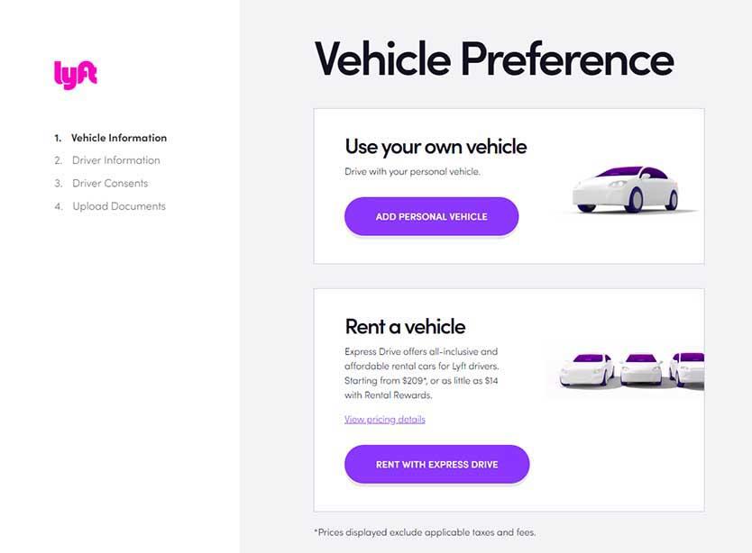 Lyft Car Rental & Leasing: Lyft Express Drive, Maven, Or Hyrecar