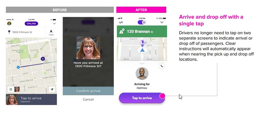 Lyft Driver App Update 2018 - Arrival and Drop Off