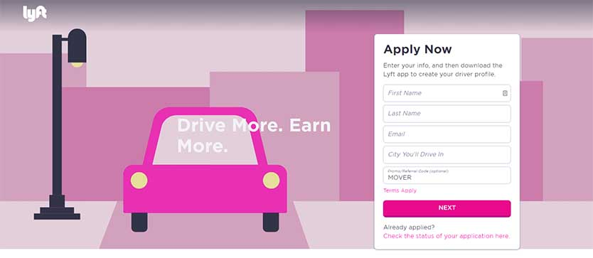 Enter Lyft Driver Promo Code