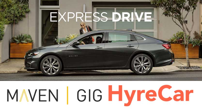 Lyft Car Rental & Leasing: Lyft Express Drive, Maven, Or Hyrecar