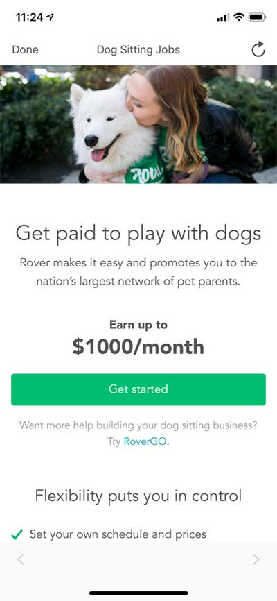 Rover Application - $1000 per month