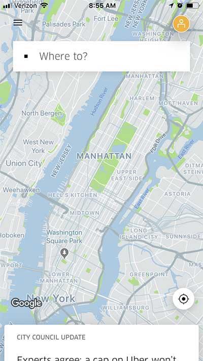 Uber Fare Estimate - Where To?
