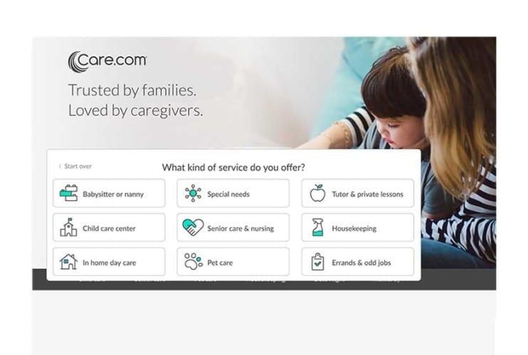 Care.com Caregiver Sign Up