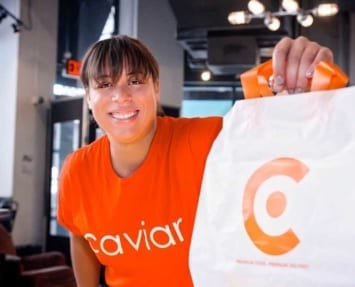 Caviar Delivery Courier
