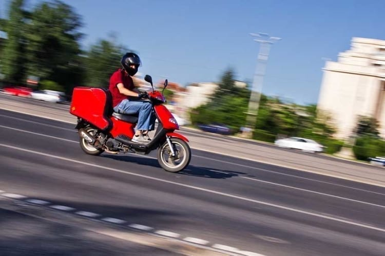 delivery driver vehicle options - scooter