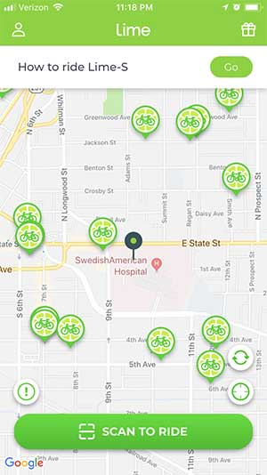 Limebike E-Assist Map