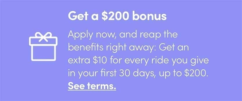 Lyft $10 Extra Per Ride Driver Bonus