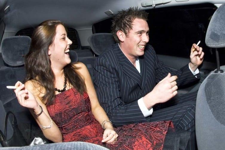 uber passengers smoking