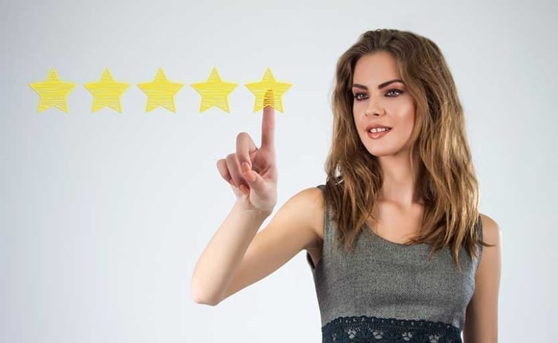 Woman Giving Uber Driver Five Stars
