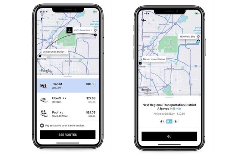 Uber Public Transit Integration