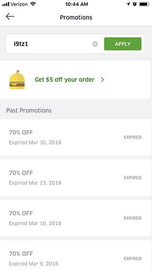 Ubereats coupon