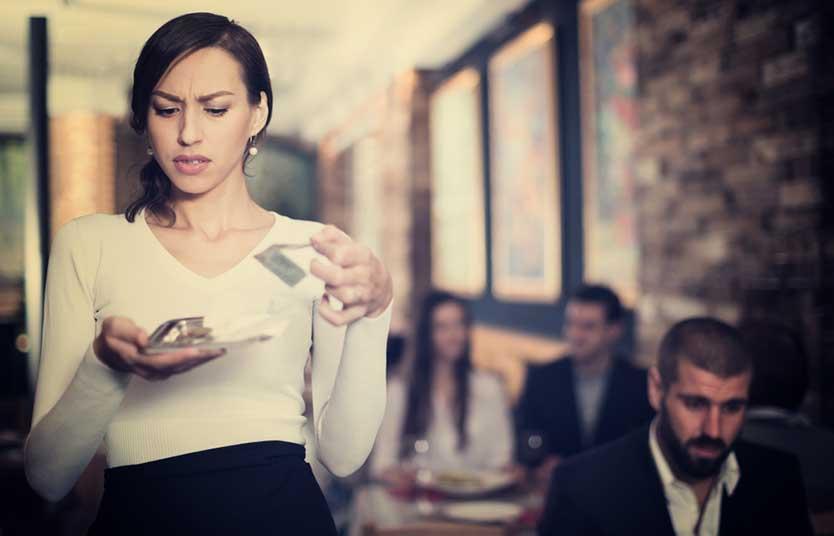Waitress getting bad tip